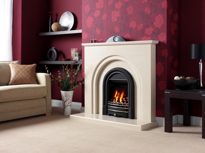 Be Modern Clarissa Marble Fireplace SuiteBIG