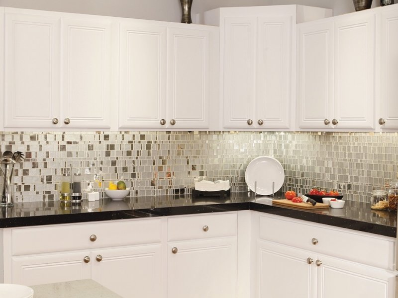 crisp-white-cabinet-ideas-also-small-sectional-countertop-feat-beauteous-mosaic-tile-design-for-kitchen-backsplash